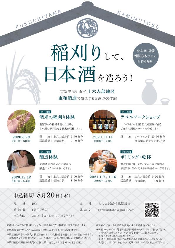 上六人部の日本酒造り体験