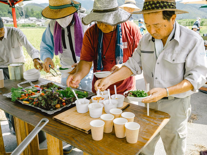 福知山産の夏野菜のバーニャカウダ